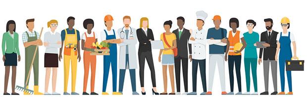 Imagem que ilustra profissões